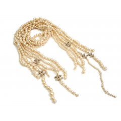 Chanel Six Strands of Pearl with Swarovski Crystals