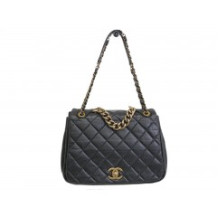 Chanel Lambskin Shoulder Bag in Distressed Leather