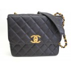 Chanel Shoulder Bag Caviar Black