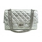 Chanel Classic 2.55 Medium Silver