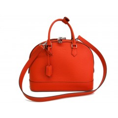 Louis Vuitton Alma PM in Taurillion Clementine Bag - Brand New