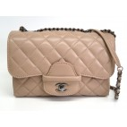 Chanel Shoulder Bag Pink Beige