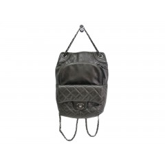 CHANEL Matelasse Backpack in Lambskin Metallic Grey
