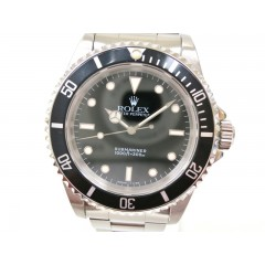 Rolex Submariner Non-Date Wristwatch Black Silver Mens