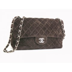 Chanel Large Suede Brown Bag