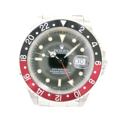 Rolex GMT Master II Wristwatch SS Black men's