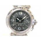 Cartier Pasha C Meridiam Wristwatch SS Black Boys