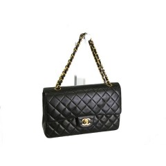 Chanel Timeless Medium Double Flap Lambskin with Gold Hardware