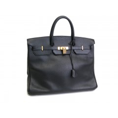 Hermes Birkin 40 Taurillion Clemence Black with Gold Hardware