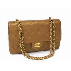 Chanel Medium Double Flap Lambskin Gold with Gold Hardware