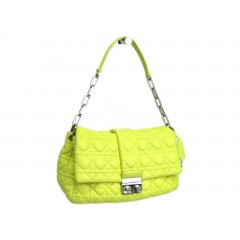 Christian Dior New Lock Cannage Yellow Leather