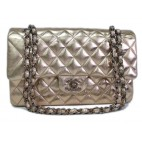Chanel Classic Medium Double Flap Champagne Gold Limited Edition