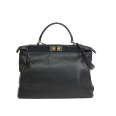Fendi Peekaboo Black Leather Medium Bag