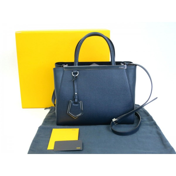 c8254dafb0 Fendi 2jours Medium Navy Bag