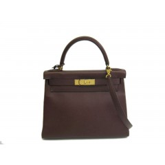 Hermes Kelly 28 Inner seam in Courchevel Brown