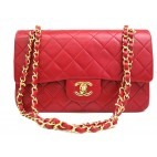 Chanel Classic Medium Double Flap Lambskin Red