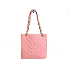 Chanel Petit Shopping Tote PST Caviar Baby Pink